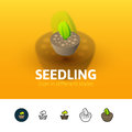 Seedling icon in different style
