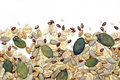 Seeds and cereals background Royalty Free Stock Photo
