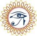 Seeing eye add a touch of the mystic with the all from egyptian mythology the double frame make it a real catcher Royalty Free Stock Image