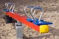 Seesaw for children on a playground Stock Photography
