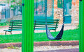 Seesaw in a park empty seat Royalty Free Stock Images
