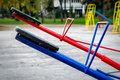 Seesaw or teeter-totter Royalty Free Stock Photo