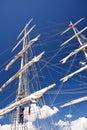 Segelschiff sailing ship in port of kiel Royalty Free Stock Photo