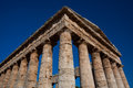 Segesta Temple stands tall in Sicily, Italy Royalty Free Stock Photography