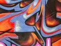 Segment of graffiti Royalty Free Stock Photo