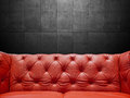 Segment Leather Sofa Upholstery With Copyspace Royalty Free Stock Photo