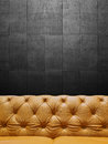 Segment leather sofa upholstery with copyspace close up Royalty Free Stock Photos