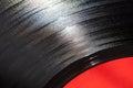 Segment of vinyl record macro photo Royalty Free Stock Photography