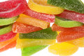 Segments of fruit candy Royalty Free Stock Images