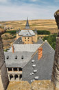 Segovia alcazar castle and country. Castile, Spain Royalty Free Stock Images