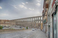 Segovia the famous ancient aqueduct in castilla y leon spain Stock Photography