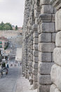 Segovia the famous ancient roman aqueduct in Royalty Free Stock Photos