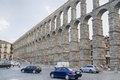 Segovia the famous ancient roman aqueduct in Royalty Free Stock Photo