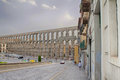 Segovia the famous ancient roman aqueduct in Stock Photos