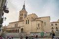 Segovia iglesia de san martins in castilla y leon spain Royalty Free Stock Photo