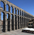 Segovia Roman Aquaduct - Spain Stock Photo