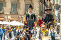 Segovia spain june giants and big heads gigantes y cabezudos in festival on in Stock Photo