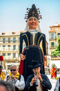 Segovia spain june giants and big heads gigantes y cabezudos in festival on in Royalty Free Stock Images