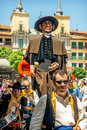 Segovia spain june giants and big heads gigantes y cabezudos in festival on in Stock Photos