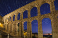 Segovia - Spain - Star Trails - Astronomy Royalty Free Stock Photo