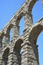 Segovia view of the aqueduct of castilla leon spain Stock Photos