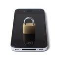 Segurança móvel do Internet Imagens de Stock Royalty Free