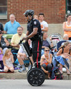 Segway police officer a rides a in the k days klondike days summer parade held in edmonton alberta canada Stock Photo