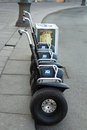 Segways for rent at the palase square st petersburg russia Royalty Free Stock Images