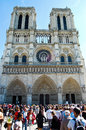 The seine of notre dame de paris french for our lady in france Royalty Free Stock Photo