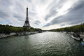 Seine river and Eiffel Tower Royalty Free Stock Photos
