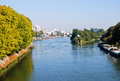 Seine river in paris france Royalty Free Stock Photos
