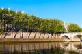 Seine river at saint lois island paris morning on seina europe Stock Photo