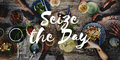 Seize the Day Collect Moment Enjoyment Positive Concept Royalty Free Stock Photo