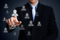 Select team leader human resources officer choose employee standing out of the crowd concept Royalty Free Stock Photography