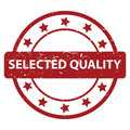 Selected quality stamp Royalty Free Stock Photo