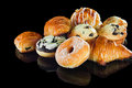 Selection of breads breakfast Royalty Free Stock Photo