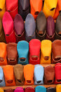 Selection of colourful shoes Stock Image