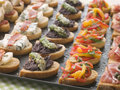 Selection of Crostini Stock Photos