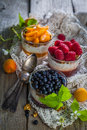 stock image of  Selection of desserts with berries and fruits