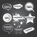 Selection exclusive logo storotsentnoy quality products Stock Photo