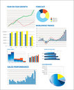 Selection of fictional graphs Stock Images