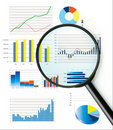 Selection of fictional graphs Stock Photography