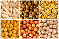 Selection of  food backgrounds Royalty Free Stock Photo