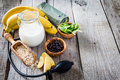 Selection of food that is good fot hypertension Royalty Free Stock Photo