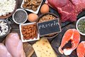 Selection food sources of protein. healthy diet eating concep