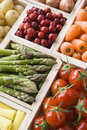 Selection Of Fresh Fruit And Vegetables Royalty Free Stock Photo