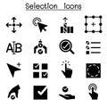 Selection icon set vector illustration