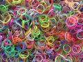 Selection of loom bands colourful ready to make Royalty Free Stock Image