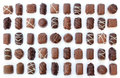 Selection milk dark chocolates Stock Image