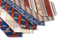 Selection of multicolored ties  close up Stock Image